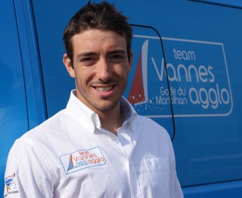 Quentin DELAPIERRE, salarié Vénétis et skipper du Team Lorina sur le Tour de France à la Voile