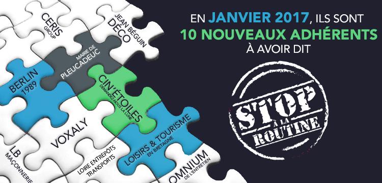 10 nouveaux adhérents de Vénétis en janvier 2017