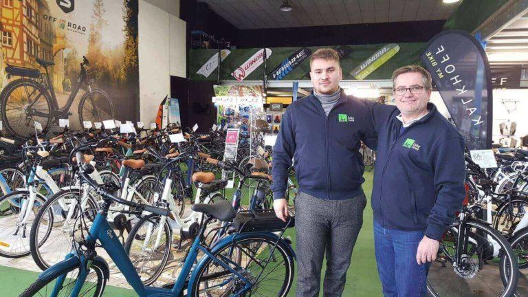 Mehdi Loirat et Pascal Janisson chez Bike Center à Nantes